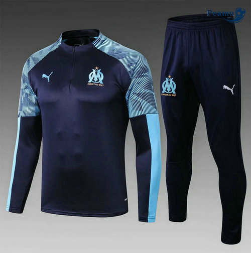 Survetement Marseille Enfant Bleu navy 2019-2020