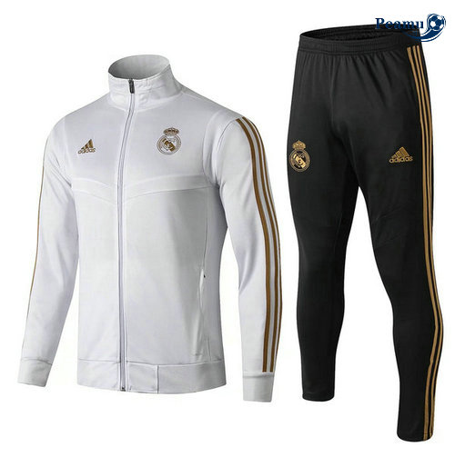 Veste Survetement Real Madrid Enfant Bianco/Noir 2019-2020