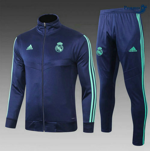 Veste Survetement Real Madrid Enfant Bleu navy 2019-2020