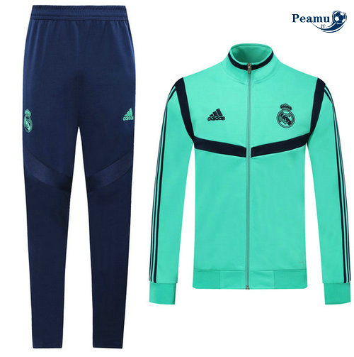 Veste Survetement Real Madrid Enfant Verde 2019-2020