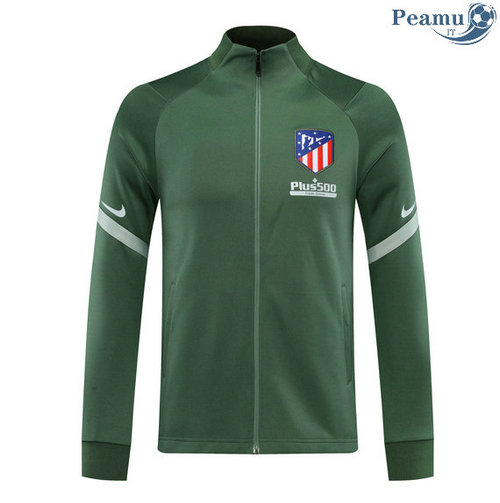 Veste foot Atletico Madrid Verde 2020-2021