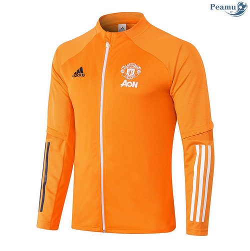Veste foot Manchester United Orange 2020-2021