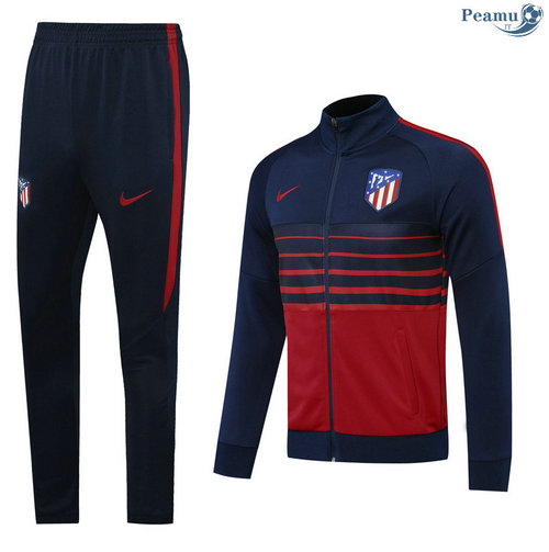 Veste Survetement Atletico Madrid Bleu Marine/Rouge 2020-2021