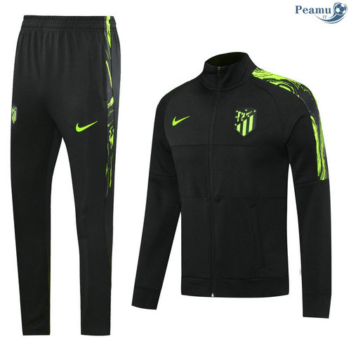 Veste Survetement Atletico Madrid Noir 2020-2021