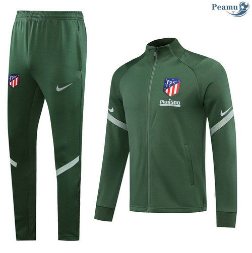 Veste Survetement Atletico Madrid Verde 2020-2021
