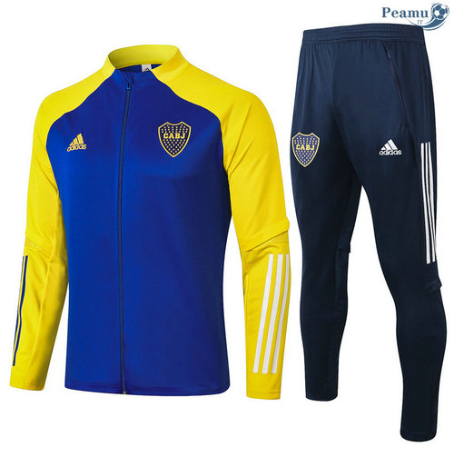 Veste Survetement Boca Juniors Bleu/Jaune 2020-2021
