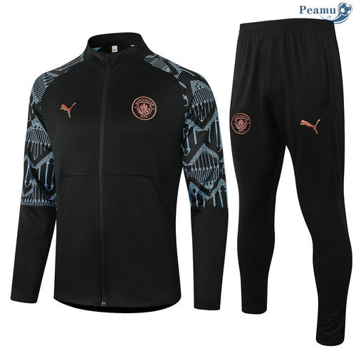 Veste Survetement Manchester City Noir 2020-2021