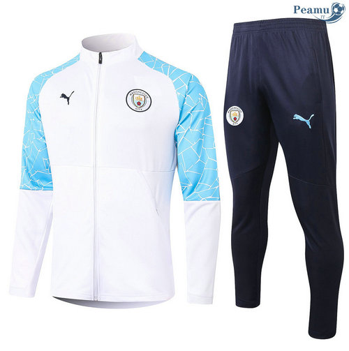 Veste Survetement Manchester City Blanc 2020-2021