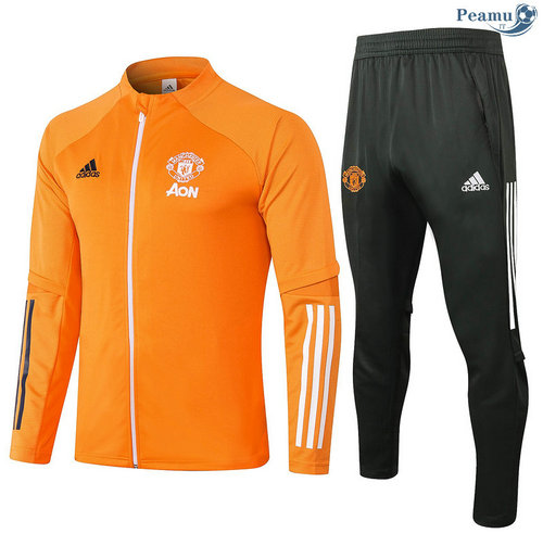 Veste Survetement Manchester United Orange 2020-2021