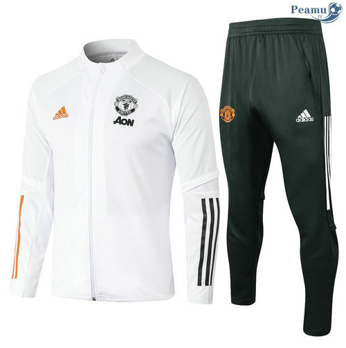 Veste Survetement Manchester United Blanc 2020-2021