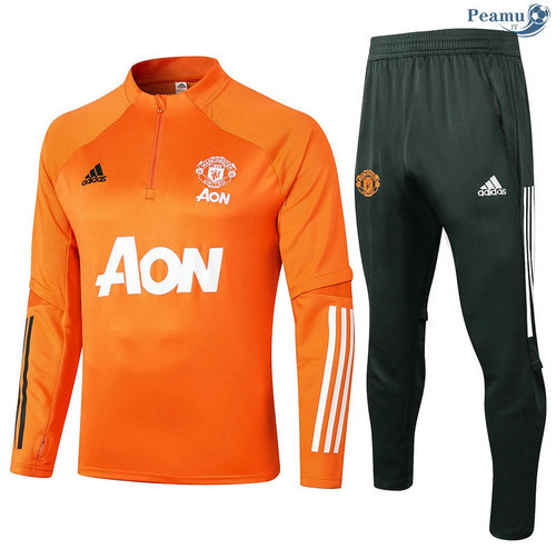 Survetement Manchester United Orange 2020-2021