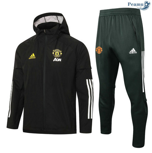 Veste Survetement A Vento Manchester United Noir 2020-2021
