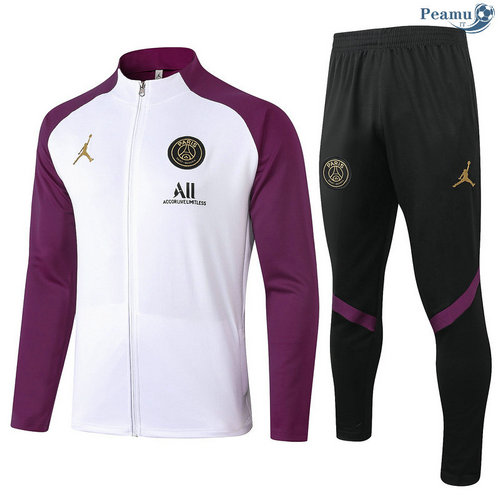 Veste Survetement Jordan Blanc/Violet 2020-2021