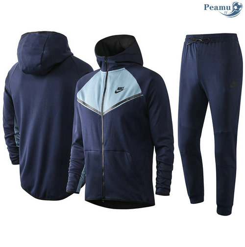 Survetement - Sweat à capuche nike Bleu Marine/Bleu clair 2020-2021