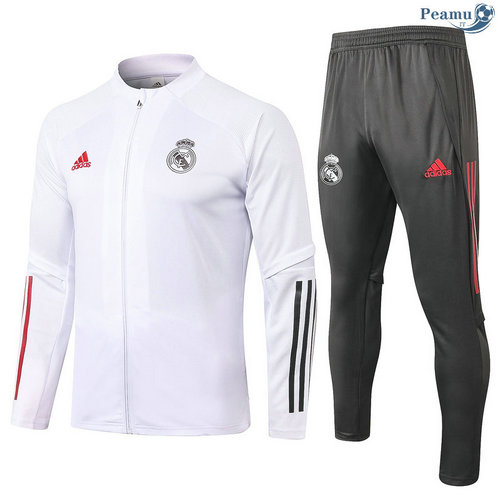 Veste Survetement Real Madrid Enfant Blanc 2020-2021